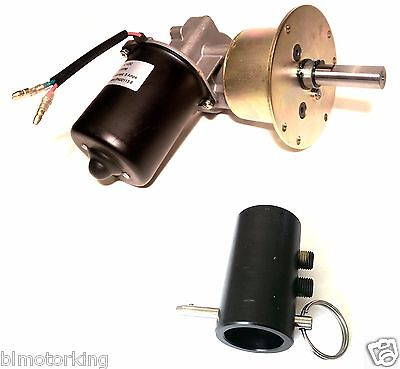 Makermotor High Torque Reversible 12V DC 6RPM Gear Motor DPDT Switch + Coupling for sale  Shipping to India