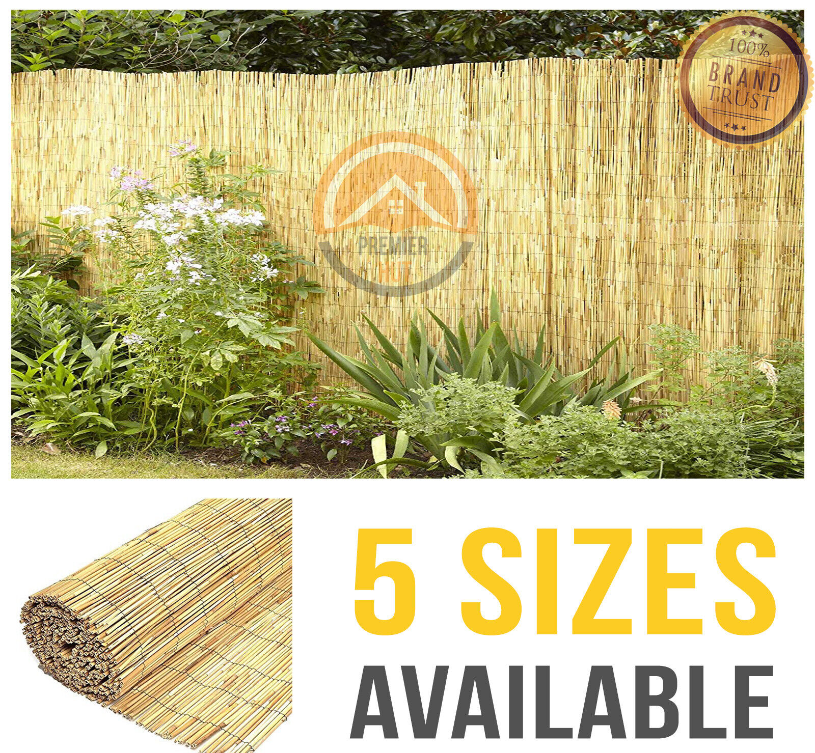 garden fence - Natural Reed Fence Screening Roll Garden Privacy 4m Length 5 Sizes Fencing Panel