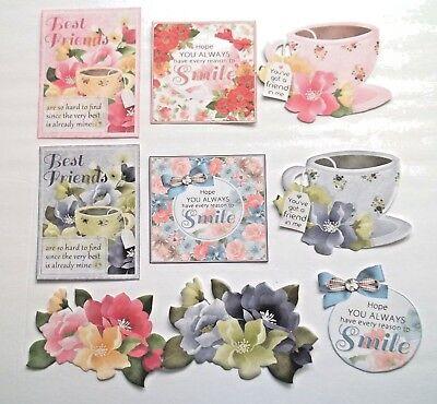 3D Pick New11 Friend Vintage Ladies Gentleman Tea  Card Scrapbook Embellishment