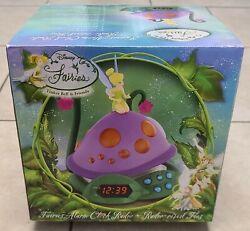 Disney Fairies Tinker Bell Lost Treasure AM/FM Radio Clock Alarm Night Light NEW