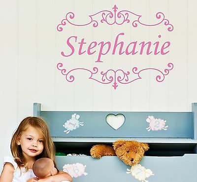 Personalized Wall Decal removable childrens sticker kids baby room nursery name Baby Nursery Wall Decals