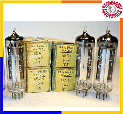 6BX4 / 6X4 / EZ90 tube, Silver shield, O getter, NOS, NIB, 1 pcs TESTED