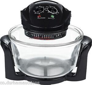 Andrew James 12 LTR Black Premium Halogen Oven 1300 Watts