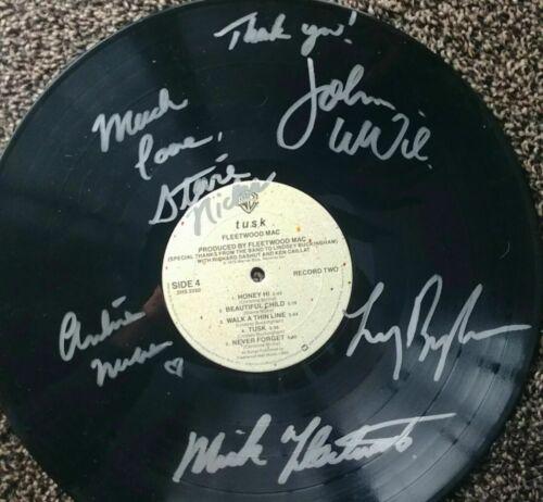 Fleetwood Mac signed Stevie Nicks signed TUSK LP x5