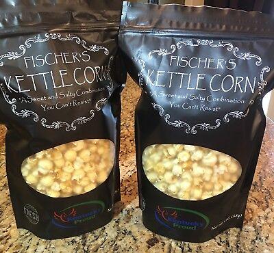 Fischers Kettle Corn Sweet And Salt Combination You Cant Resist Jumbo Gourmet