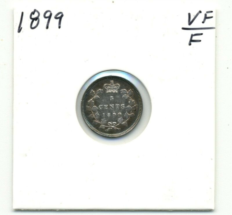 Coins. Canada. Five Cents. 1899 Fine