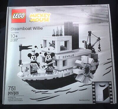 Minnie Mouse Ideas (Brand New LEGO DIsney Mickey Mouse Steamboat Willie 21317 perfect Sealed in)