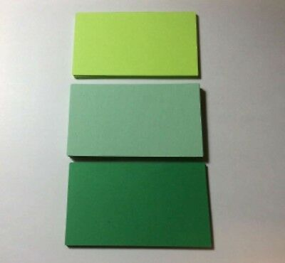 100 Blank Business Cards 3 Shades Green 3.5 x 2, Multi, flash cards, note cards](Blank Flash Cards)