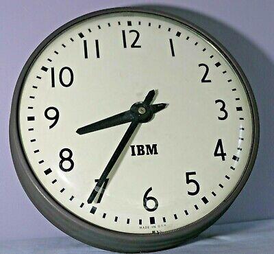 Vintage IBM Industrial School Clock IBM 95925, Circa 1950's, original labels