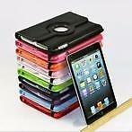 New iPad 2,3,4 360 Rotating Case Cover Leather Various Color