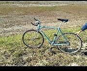 Blue racer bike good condition