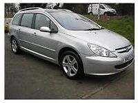 PEUGEOT 2.0 307 HDI 110BHP ESTATE, 16INCH ALLOYS A/C NO ELECTRICAL OR MECHANICAL FAULTS.