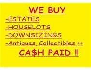 WANTED ANTIQUES, COLLECTABLES, DOWN SIZING, CARS.MOTOR BIKES