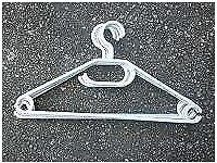 10 Clothes Hangers (IKEA, Plastic, WHITE)