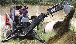 Skid Steer Backhoe/Excavator Attachment
