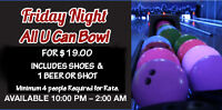 ALL U CAN BOWL FOR $19.00 AT CHATEAU LANES