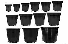 30 plastic plant pots - various sizes, used