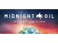 Midnight Oil - Sunday 23 July (6 rows from front) Eventim Apollo, London
