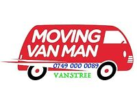 MAN AND VAN HIRE WITH A REMOVAL SERVICE DELIVERY MOVER SMALL LWB BIG & LUTON VANS WITH PIANO MOVERS