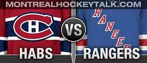 CANADIENS VS RANGERS REDS THUR APRIL20th(2x104W)