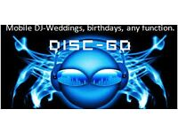 Mobile DJ - weddings, birthdays, christenings, engagements, childrens parties - prices start £75