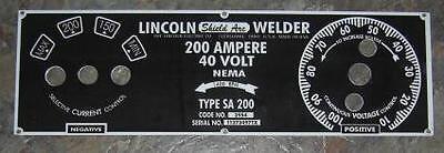 Lincoln Electric Arc Welder Sa-200-m-6549 .025 Aluminum Control Plate