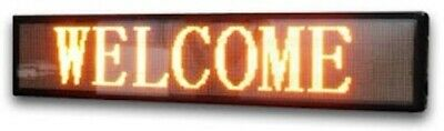 Signtronix Yellow Led Programmable Outdoor Sign 1 Ft. High X 8 Ft. Wide