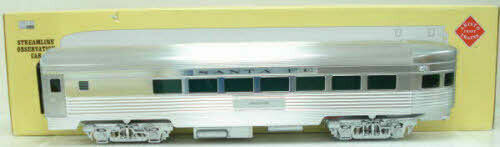 "Aristo-Craft 32405 AT&SF ""1394"" Streamlined Observation Car - Metal Wheels LN"