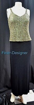 Alex Evenings sparkle slinky stretch Formal gown evening Cocktail Dress 4 4P NEW