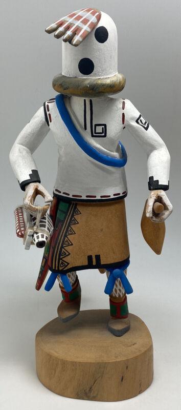 "Eototi Hopi Carved Wooden Kachina Signed by William James 11"""
