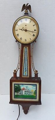 Vintage Warren Telechron Ashland Mass USA Electric Clock Banjo Eagle 1930'S