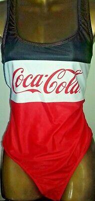 PRIMARK COCA COLA RED BLACK WHITE SWIMSUIT-SIZE UK 10-BNWT