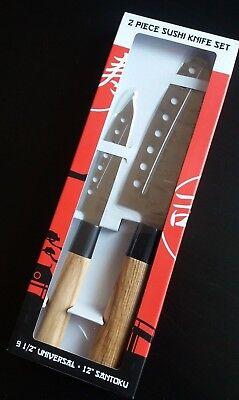 2 Piece Set Santoku Sushi Chef Knives Kitchen 12