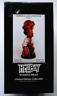 Hellboy Nodder Head statue Hourglass Studios Mike Mignola 2001 New