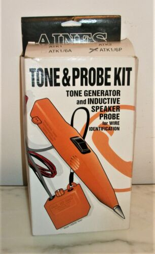 New ~ Aines ATK1/6P Tone Generator & Speaker Probe Kit for wire identification