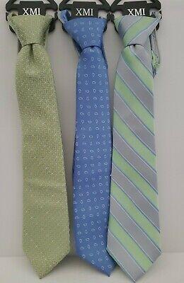 """3 Zip Zipper Tie Necktie Boys 14"""""""