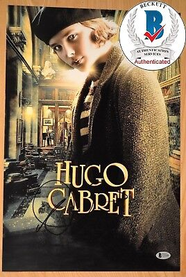 Chloe Moretz Signed 12X18  Hugo Cabret Proof   Bas Beckett C03690 Kick Ass