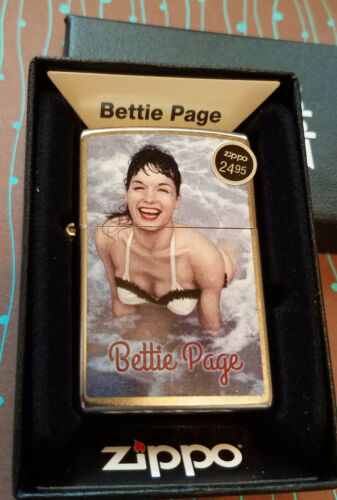 ZIPPO 29440 Bettie Page Bathing Suit Chrome NEW in box Windproof Lighter