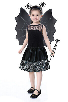 Kostüm Hexe Kinder Set 2 Farben Rot/Schwarz Outfit Halloween Zauberstab - Zauberer Kostüm Weiblich