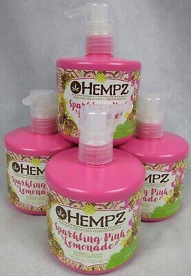 Sparkling Pink Lemonade (Lot of 4 Hempz  Herbal Body Moisturizer Lotion Sparkling Pink Lemonade 17oz)