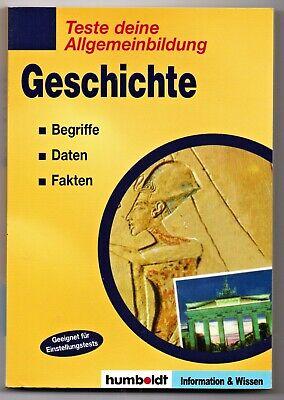Geschichte - Teste deine Allgemeinbildung * Taschenbuch (Buch, Bildung)