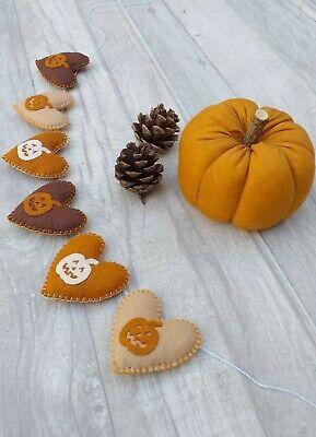 Halloween bunting, pumpkin banner, autumn felt garland, party, teepee