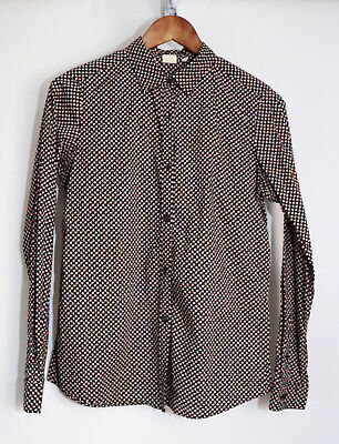 Orla Kiely For Uniqlo Black Signature Graphic Print Cotton Shirt Medium