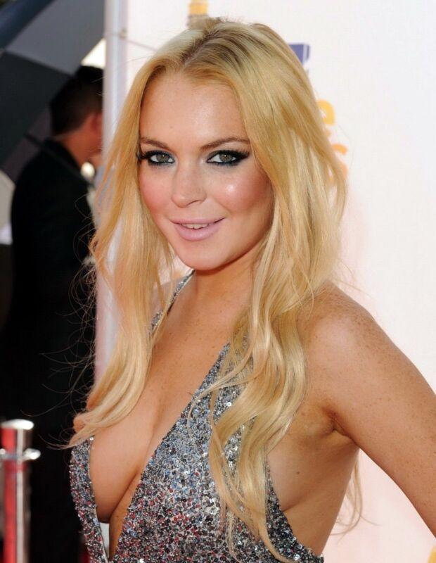 Lindsay Lohan Shinny Dress  8x10 Photo Print