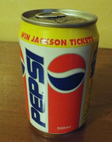 1993 Michael Jackson Dangerous Tour Unopened Pepsi Can- United Arab Emirates