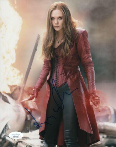 Elizabeth Olsen Avengers Autographed Signed 8x10 Photo JSA COA #11