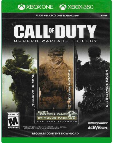 CALL OF DUTY: MODERN WARFARE TRILOGY  (X360 & XBOX ONE, 2019) (4137)   FREE SHIP