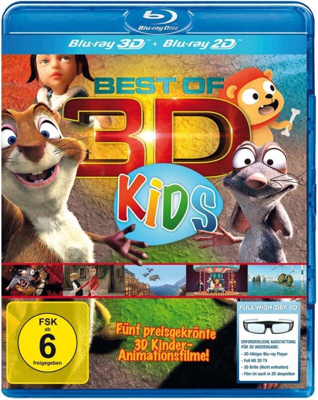 BEST OF 3D FÜR KIDS DER GROSSE 3D KINDERSPASS 5 PREISGEKRÖNTE FILME BLU-RAY