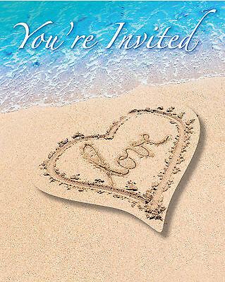 Boda en el Extranjero Playa Fiesta Novia Ducha Hawaiana Tema Invitaciones