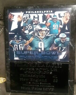Philadelphia Eagles Super Bowl Lii Champs Plaque   New Lower Pricing
